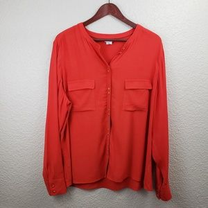 Boden Red Blouse NWOT Plus size 18